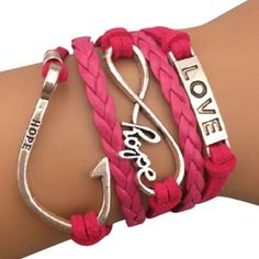 Hot Pink Hope Arm Party Bracelet - $14.00