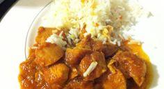 Κοτόπουλο σε σάλτσα κάρυ με πιλάφι Cookbook Recipes, Sweets Recipes, Cooking Recipes, Greek Menu, Greek Recipes, Chana Masala, Poultry, Chicken Recipes, Curry