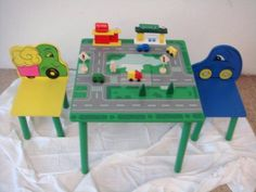 kids car table homemade