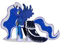 Luna Gala II by CartoonTiger on DeviantArt My Little Pony Dress, My Little Pony Princess, Mlp My Little Pony, My Little Pony Friendship, Celestia And Luna, Princess Celestia, Mlp Twilight, Twilight Sparkle, Nightmare Moon