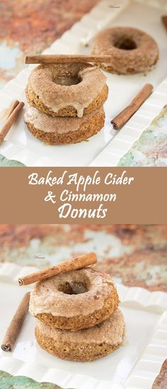 Baked Apple Cider and Cinnamon Donuts