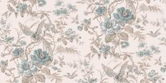 Bird of Paradise (21530) - Albany Wallpapers - An elegant all over wallpaper featuring a trailing bird of paradise design. Shown here in the duck egg blue colourway. Other colourways are available. Please request a sample for a true colour match. Paste-the-wall product.