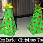 Recycled Egg Carton Christmas Tree Craft For Kids
