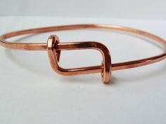 His or Hers adjustable bracelet - solid copper   Tophatter