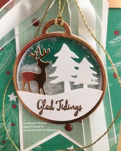 Gift Tag Shaker using Stampin Up's Merriest Wishes by Jan McQueen. More info @ www.janscreativecorner.blogspot.com