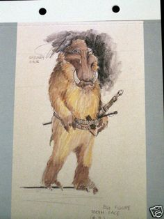 Postcard Star Wars Tooth Face Concept Sketch Nilo Rodis-Jamero Aliens & Creature