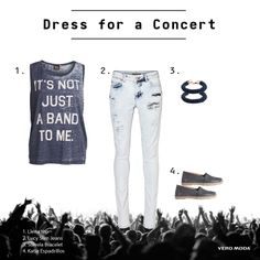 We love dressing for MUSIC CONCERTS! Which band/artist do you like to see live? #veromodame #music #concert #spring #outfit #inspiration #trend