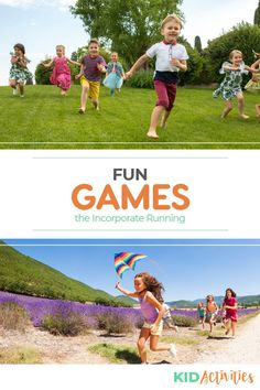 A collection of games that involve running for kids. Great for gym class or for getting kids exercise while having fun. Fun Games For Kids, Preschool Games, Games For Toddlers, Fun Activities For Kids, Physical Activities, Fitness Games For Kids, Kids Fitness, Exercise For Kids, Summer Party Games