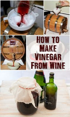 How to Make Vinegar From Wine - For those that make wine at home, their biggest fear is actually turning their barrel of tasty wine into vinegar. But there are so many uses for vinegar that this skill will be a huge advantage if SHTF.
