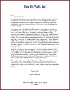Free Proposal Letter Template Pleasing Sponsorship Proposal Cover Letter  Projects To Try  Pinterest .