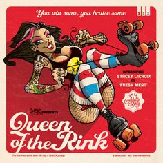 Roller Derby pin-up