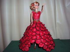 Boneca com vestido de EVA - Cigana