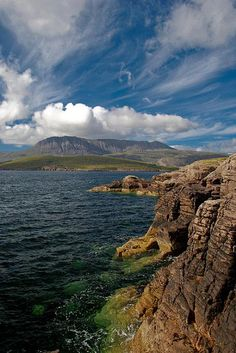 Rhue Peninsula, just to the north of Ullapool, Scotland. - On the temperate east…