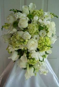 Wedding Flowers White Green Bridal Bouquets Petals and promises