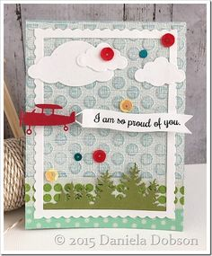 card plane airplane aeroplane flying fly sky clouds banner greetings IO Impression Obsession - Proud of you by Daniela Dobson Boy Cards, Kids Cards, Airplane Banner, Leaving Cards, Deco Foil, Impression Obsession, Sky And Clouds, School Spirit, Digital Stamps