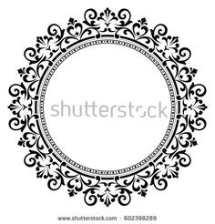 Decorative line art frames for design template. Elegant element for design in Eastern style, place for text. Lace illustration for invitations and greeting cards Border Design, Circle Design, Stencils, Trippy Drawings, Photography Studio Background, Decorative Lines, Mandala Artwork, Glass Engraving, Wood Carving Patterns