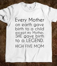 HIGH FIVE MOM (: haha