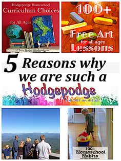 The story behind the website Hodgepodge including 5 reasons why we are such a hodgepodge with art lessons, recipes, homeschool reviews and more!