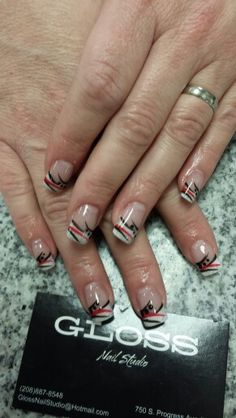 Black and red nail art