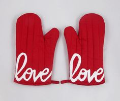 Love is the Special Ingredient Economy Oven Mitt by Graceful Works $15
