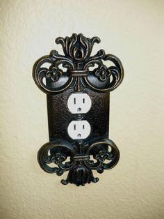 Metal Outlet Plate Cover Old World Medieval Tuscan French Country Hacienda Spanish style decor $29.95