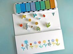 Little Blooms DIY Hand Carved Stamps
