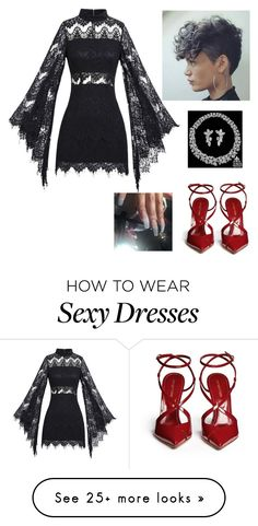 """""""Untitled #3314"""" by vireheart on Polyvore featuring Sergio Rossi and Harry Winston"""