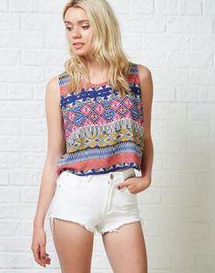 Glamorous Cyndi Aztec Tank Top | ARK Clothing #top #women #covetme #gorgeous #love #want #style #fashion