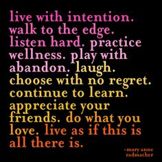 Live With Intention - Radmacher Greeting Card - Quotable Cards - from QuoteArts.com