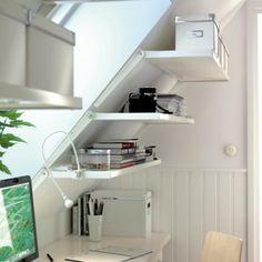 Small Office Space Idea for Attic