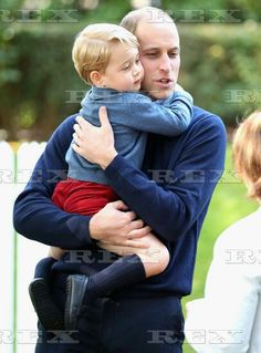 The Duke and Duchess of Cambridge visit Canada - 29 Sep 2016 Prince George with Prince William, Prince William at a children's party for Military families 29 Sep 2016