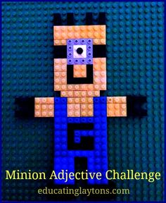 Minion Adjective Challenge - free language arts worksheet.