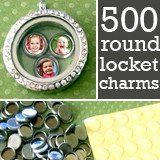Kit Makes 500 Mini Round Photo Charms For Floating In Your Glass Lockets