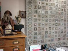 Quilt Otaku: Quilt Shopping in Tokyo: Quilt Party - Yoko Saito's Shop - Made Using Japanese Taupe Fabric