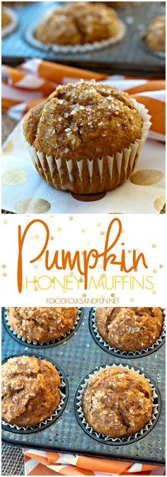These pumpkin honey muffins are easy to make and made with honey instead of sugar! They're also an easy breakfast option for weekdays or holidays!   Pumpkin Recipe   Fall Recipe   Breakfast Recipe   Brunch Recipe