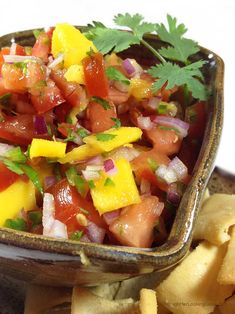 Garden Fresh Mango Salsa. This recipe evolved over the last few years with fresh veggies harvested from our gardens: tomatoes, jalapeño peppers & cilantro.