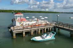 Aracaju, Brazil - Our Catamaran just before leaving for the day - Photo by Dan Trepanier