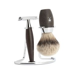 Mühle · Kosmo Bog Oak Shaving Set with Safety Razor & Silvertip Badger Brush | Shaving Sets · Waremakers