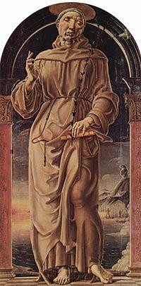 Cosme Tura - Sant'Antonio da Padova è un dipinto olio su tavola (178x80 cm) di Cosmè Tura, databile al 1484-1490 circa e conservato nella Galleria Estense di Modena.