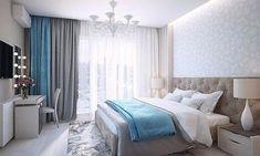 light blue and grey bedroom Master Bedroom, Bedroom Decor, Bedroom Ideas, Home Decor Lights, Interior Design Inspiration, Home And Living, Interior Decorating, Sweet Home, House Design