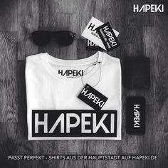 Das HAPEKI LOGO SHIRT ausschließlich erhältlich auf www.hapeki.de/shop #hapeki #berlin #modeausderhauptstadt #madeinberlin #casual #hapekistyle #fashion