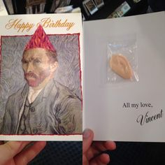 Van gogh birthday card