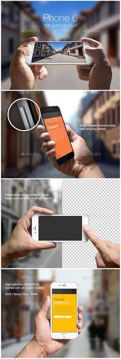 iPhone 6 Mockups | Download: http://graphicriver.net/item/phone-6-mockups/9148093?ref=ksioks