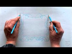 How To Draw A Celtic Border Knot Using The Two Handed Method by Patrick Gallagher
