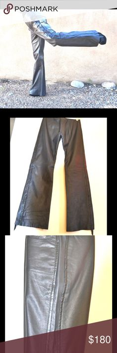 🔥🤘🏻Vintage DIESEL Leather zipper pants jeans Rare KILLER Diesel Leather Jeans  BEYOND AMAZING – EUC If I were a few inches taller/larger I would be keeping these! Butter soft dove gray leather & incredible detail. Size is 26. Lined to just below the knee. Waist: 14 across Rise: 9.5 in front/11.5 in back Hip: Upper hip area is 16 inches across, Lower hip is about 18.5 across. Inseam is 30, Outseam is 39 Zippers at lower legs are 13 inches long Leg openings measure 9.5 inches across. NOT…