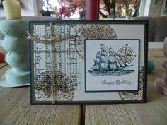 Stampin Up Geburtstagskarte für Männer mit The Open Sea