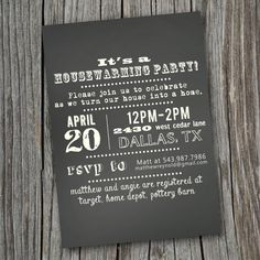 House Warming Party Invitation  Printable Custom by SplashOfSilver, $13.00