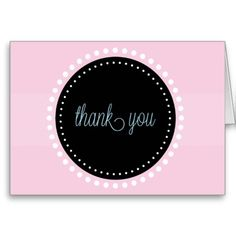 Pink Birthday Thank You Card