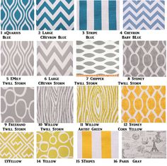 1 pair of Curtains 28 Color Choices Brown, Orange, Yellow, Gray , Blue Modern Curtains on Etsy, $48.00