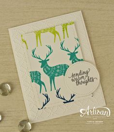 Bright rainbow colors take Stampin' Up!'s Merry Patterns stamp set beyond Christmas! ~Tanya Boser for the 2017 Artisan Design Team